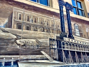 more building painted on the mural