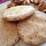 golden brown pecan sandie cookies