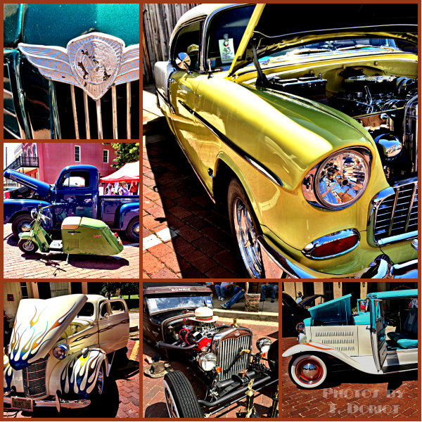 vintage car collage pictures