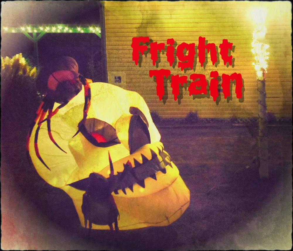 2013 Jefferson Texas Fright Train decoration at depot